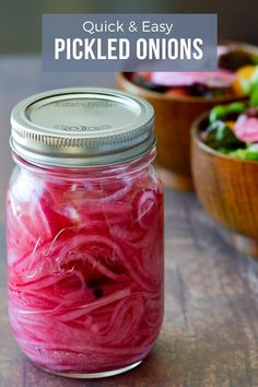 Quick and easy pickled onions add a kick to salads, sandwiches, burgers, tacos, and more! This recipes takes less than 10 minutes to put together and is Paleo and Whole 30 friendly! Easy Pickled Onion Recipe, Pickled Red Onions, Make Ahead Appetizers, Appetizer Recipes, Onion Recipes, Cheese Recipes, Healthy Vegetable Recipes, Paleo Vegetables, Veggies