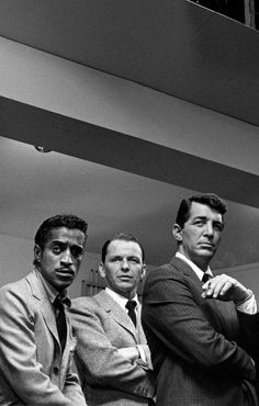 Sammy Davis Jr., Frank Sinatra & Dean Martin photographed by Sid Avery on the set of Ocean's Eleven, 1960
