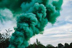 Kaboompics - Free High Quality Photos - Green smoke bomb