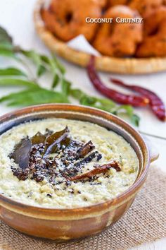Coconut Chutney - a South Indian condiment made of coconut, chili peppers, and spices. A must-have with idli, tosai, and vadai. Very tasty! | RotiNRice.com