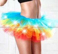 Women LED Light Up Neon Rainbow Tutu Fancy Dress Halloween Costume Adult Skirt | Clothing, Shoes & Accessories, Women's Clothing, Skirts | eBay!