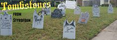 Easy DIY personal tombstones. Just in time for Halloween   Kelsey's Craft Corner