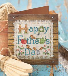 Father Day Card cross stitch chart