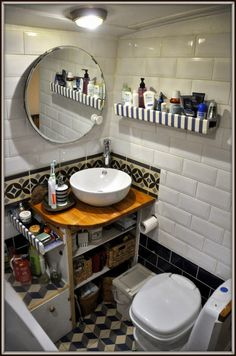 narrowboat bathroom