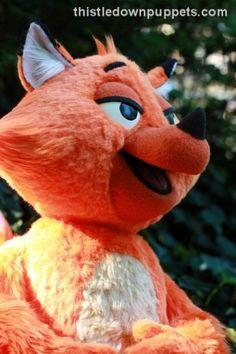 sweet fox puppet that Phil built