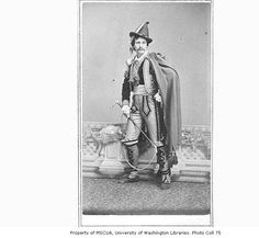 Benjamin T. Ringgold in the role of Manuel in a production of the play THE ROSE OF CASTILE :: 19th Century Actors Photographs