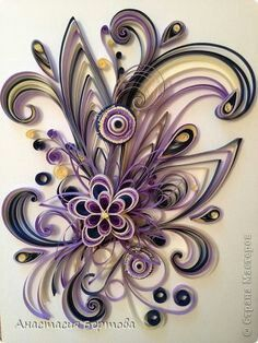 99 Painting mural drawing Quilling Paper Curls for Hamster band photo 1 Paper Quilling Tutorial, Paper Quilling Patterns, Quilling Paper Craft, Paper Crafts, Quilling Work, Neli Quilling, Quilling Jewelry, Origami, Quilling Techniques