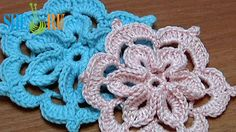 Crochet Flower With 3D Center How to 29