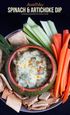 Healthy Spinach and Artichoke Dip #PALEO #VEGAN