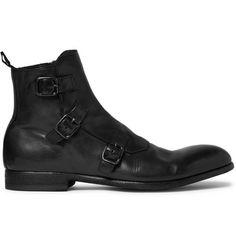 Alexander McQueen Triple Monk-Strap Boots   MR PORTER