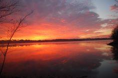 reflecting sunrise