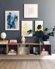 Happy new week! How beautiful is this living room corner by 👈🏻 Menu JWDA Metallic Lamp available in our online store 💫 . Room Corner, Decor, Blue Painted Walls, Interior, Living Room Corner, Scandinavian Decor, Home Decor, Room Decor, Home Deco