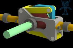 Mechanism for Heavy Loaded Reciprocating Pumps - SOLIDWORKS,STEP / IGES,STL,SketchUp,Parasolid - 3D CAD model - GrabCAD