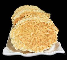 Pizzelle - Italian Waffle Cookies.  The only other dish she made was pancakes.