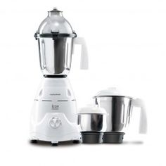 Morphy richards Mixer Grinder Icon Classique 750W Designed for convenience, the elegant style of pearl white Morphy Richards Mixer Grinder � Icon Classique makes it an ideal addition to your contemporary kitchen. Equipped with 3 stainless steel jars and 5 blades for multiple functions the unit has a shock proof insulated body. Armed with 90 degree, 3 speed ergonomic switch, the appliance has an automatic overload protection cut-off system to avoid motor accidents.