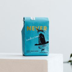 Portland's Never Coffee Lab Brings A Unique Design To Coffee   Dieline Colorful Cafe, Campfire Stories, Coffee Lab, Coffee Subscription, Coffee Shop Design, Creativity And Innovation, Blended Coffee, Pretty Packaging, Perfect Cup