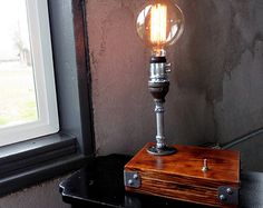 Industrial Desk Lamp for Steampunk Lighting - Modern Pipe Furniture - FREE SHIPPING