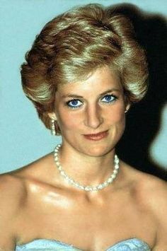 Princess Diana, circa 1990, I think this is the same dress worn to an event in Nigeria...without a pearl necklace.