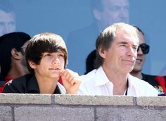Timothy Dalton Actor Watch Soccer Match LA Galaxy V Manchester City Football Match Carson, Los Angeles Photo by Graham Whitby Boot-allstar - Globe Photos, Inc. Soccer Match, Football Match, Timothy Dalton, British Actors, Father And Son, Manchester City, James Bond, Sons, Daughters