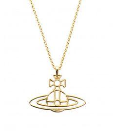 Vivienne Westwood Thin Lines Orb Pendant Gold #necklace #SS16 #design
