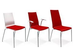 APOLLO-STOLEN leveres i mange varianter som kan kombineres slik at man i praksis designer sin egen stol. Apollo passer ypperlig for bruk i konferanseanlegg og kantiner, eller som en enkel besøksstol til kontoret. Fåes med tre ulike høyder på rygg. Alle modeller leveres med eller uten armlener.