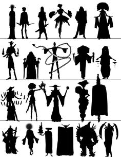 All Characters must have a distinctive attributes. Doing some quick Silhouette sketches is a ways to start the character design process