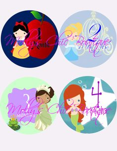 Baby Monthly Stickers Disney Inspired by MollysChicBoutique, $12.00