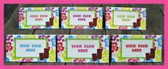 Printable Hawaiian LUAU Food Buffet Labels - you personalize at home with Adobe Reader. Instant Download!