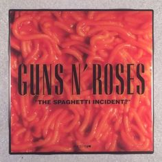 "GUNS N' ROSES ""Spaghetti Incident?"" Record Cover Art Ceramic Tile Coaster"