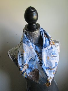 This awesome infinity scarf was made by hand from pre-owned vintage bed sheets! Great way to recycle and reuse!  *Length(laying flat)-30  Wraps twice!  Perfect for any fan of the Star Wars movies!  This item ships within 3-5 business days