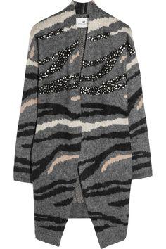 DAY Birger et Mikkelsen | Tiger-intarsia knitted cardigan | NET-A-PORTER.COM