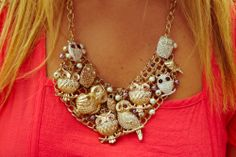 Colar de corujas #necklace #owl