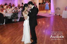 """Annie and David Crago's romantic First Dance. The couple chose """"A Life That's Good,"""" featuring Lennon and Maisy, as their signature song. http://www.discjockey.org"""