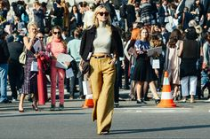 Wide-leg pants trend Fashion Week 2015 Street style 3