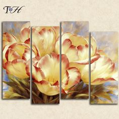 4 pcs DIY 5D diamond painting multi-pictures flowers diamond mosaic painting cross stitch patterns needlework diamond embroidery