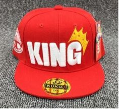 Letter KING Kids Baseball Cap