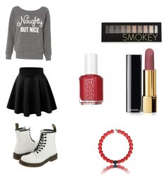 """Untitled #20"" by khay17 ❤ liked on Polyvore featuring Dr. Martens, Forever 21, Chanel and Essie"