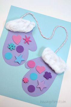 25 Winter Crafts Preschool Kids and Toddlers Are Going To Fall in Love With – Cute DIY Projects - 25 Winter Crafts Preschool Kids and Toddlers Are Going To Fall in Love With - Winter Activities For Kids, Christmas Crafts For Kids To Make, Preschool Christmas, Easy Crafts For Kids, Toddler Crafts, Preschool Crafts, Preschool Winter, Children Crafts, Simple Crafts