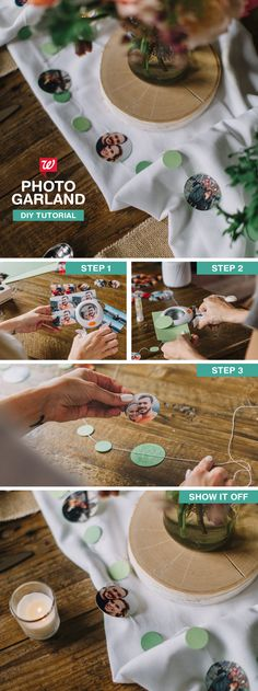 Whether you're celebrating a birthday, bachelorette party or wedding shower, this fun photo garland adds nostalgic charm to tables and décor. Check out our Smile blog for the tutorial!