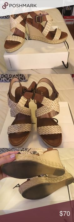 ALDO Lappas wedges sz 7 Worn once. In great condition ALDO Shoes Wedges