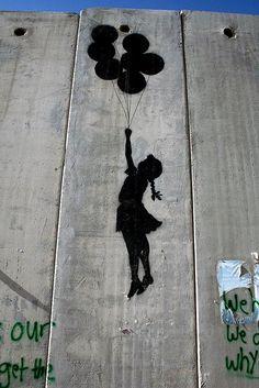 Israeli street art/ West Bank