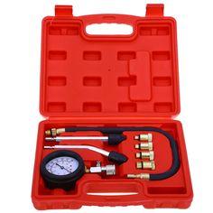 9 UNIDS motor De Gasolina De Gas Cilindro Compresor Gauge Meter Prueba de Fugas Probador De Compresión de Presión de Diagnóstico Del Coche Herramienta de Diagnóstico