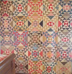 Antique Lady of the Lakes quilt - Pennsylvania, Circa:  1880's, 79″x79″