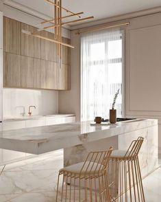 Modern Kitchen Design, Modern Interior Design, Interior Design Kitchen, Interior Decorating, Modern Bar, Marble Interior, Decorating Ideas, Luxury Interior, Decorating Websites