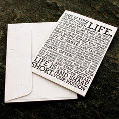 Holstee Manifesto Cards - Letterpress
