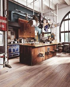Industrial Kitchen #loft #industrial #kitchen #interior #interiors…