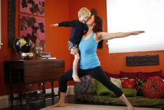 Yoga tips for Busy Moms and Busy Moms to Be, this has one of my favorite poses for fertility, Leg's up the Wall, thanks momfilter!