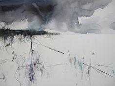ROCK WAVES Hannah Woodman, British Landscape artist Pencil,Oil,PastelonPaper