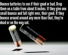 Easy check if batteries are good or bad