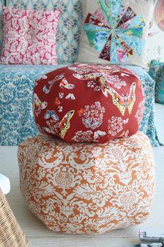 Amy Butler's Alchemy Studio Fabric with Gumdrop Pillows